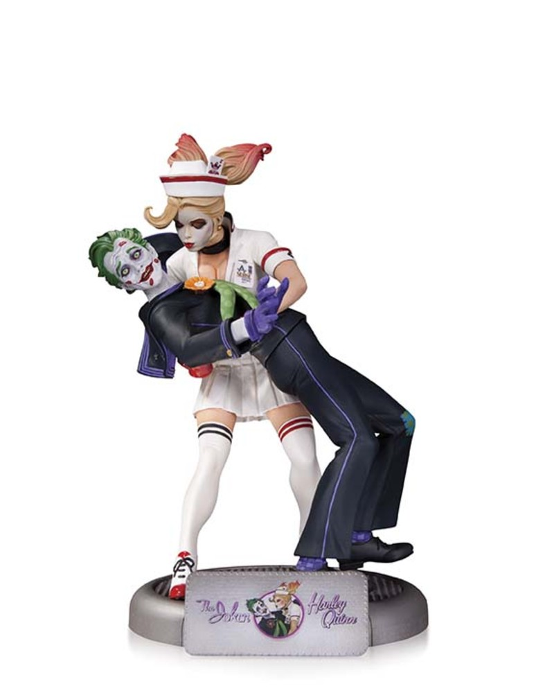 "JOKER AND HARLEY QUINN 10"" STATUE"