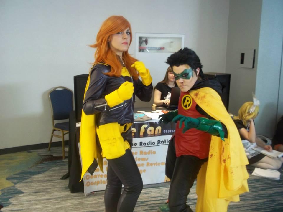 Batgirl and Damian Wayne/ Robin