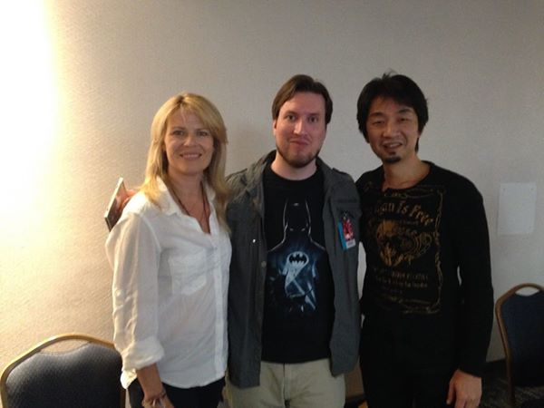 Let to Right: Mary Elizabeth McGlynn, Me, Akira Yamaoka