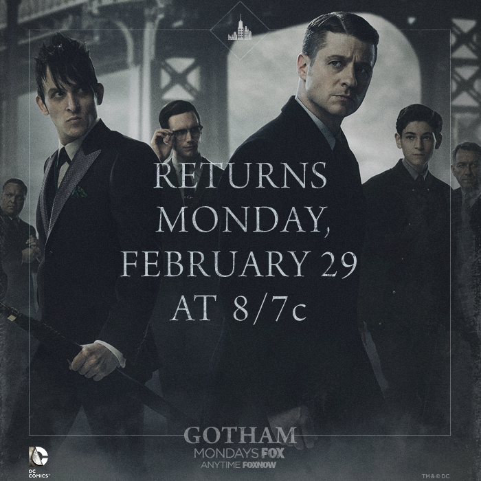 gotham returns feb 2016