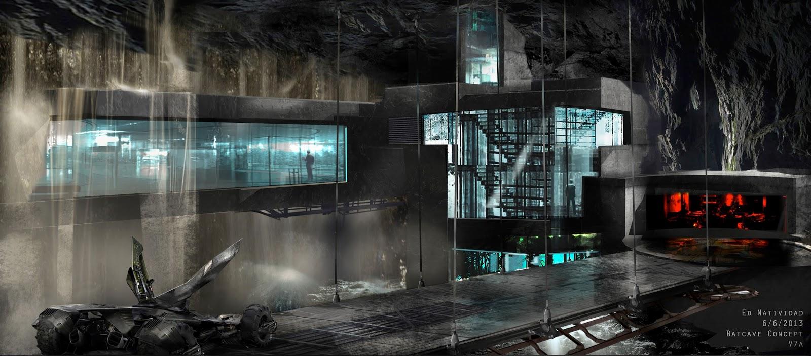 'Batman V Superman' Batcave Concept Art Unveiled Dark Knight News