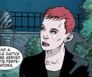 One of the many strange faces in this issue, directly from the uncanny valley of slightly disproportionate artwork.