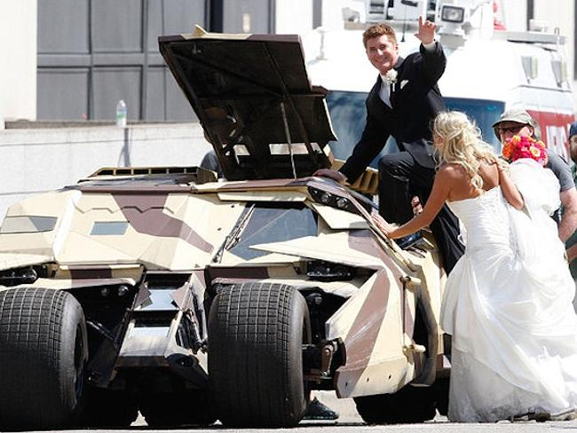 This would be the best wedding ride of all time!