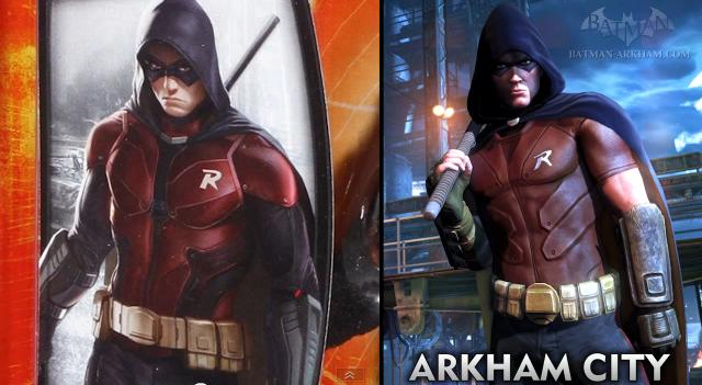 arkham knight arkham city robin comparison