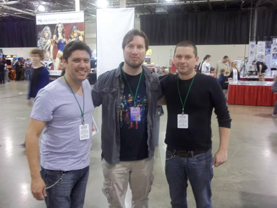 Left to Right: Ivan Reis, me, Joe Prado