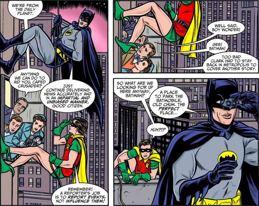 Batman'66_Wall climb_DailyPlanet