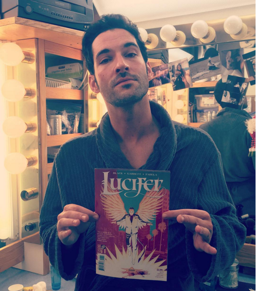 Tom Ellis, FOX's Lucifer, endorses Lucifer #1.