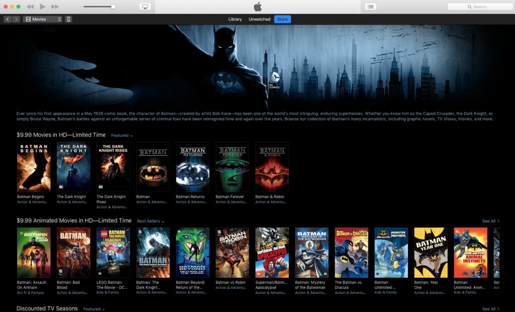 Batman Day iTunes Store